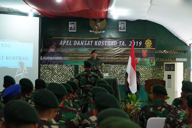 Pangkostrad Buka Apel Dansat Kostrad Terpusat Tahun 2019
