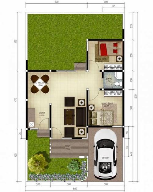Denah Rumah Minimalis Impian 1 Lantai Desain Rumah