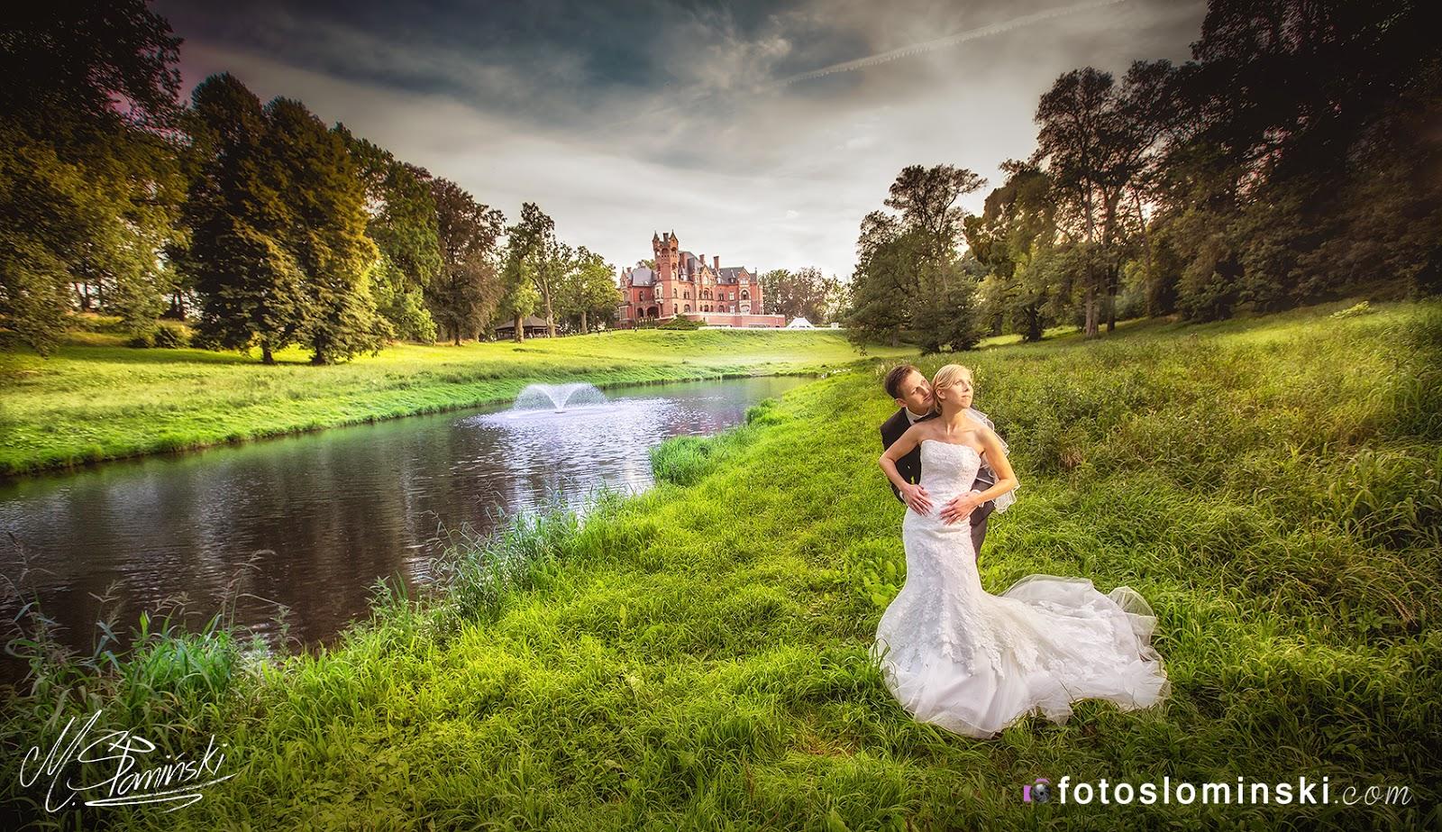 Piękny Pałac Wąsowo koło Poznania - Fotografia ślubna Fotoslominski #ZdjęciaSłomińskiego Wrocław.