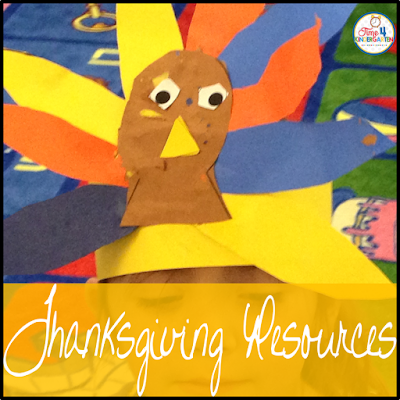 Thanksgiving resources for kindergarten, crafts, centers and books