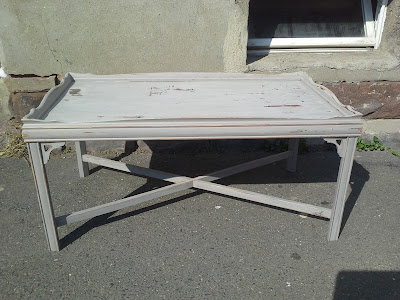 grey distressed coffee table
