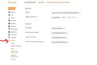 menu apa saja yang ada didalam daskboard blogger - blog