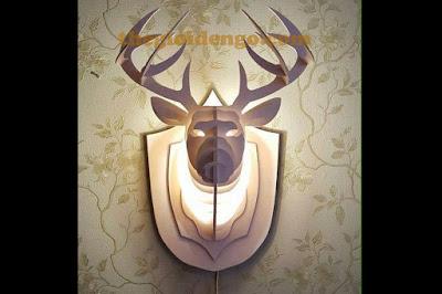Thế giới đèn gỗ - Đèn gỗ trang trí đầu hươu 4