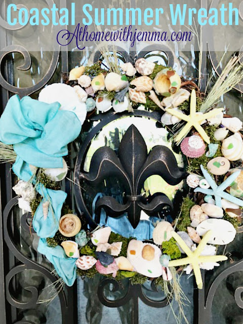 diy-sea-shells-ribbon-coastal-wreath-Jemma