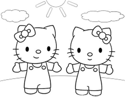 Belajar Mewarnai Gambar Untuk Anak Tokoh Kartun Hello Kitty Si Kucing Yang Lucu Dan Imut