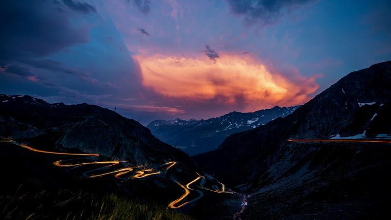 Landscape in Gotthard Pass, Switzerland HD