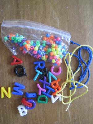 lacing- busy bag
