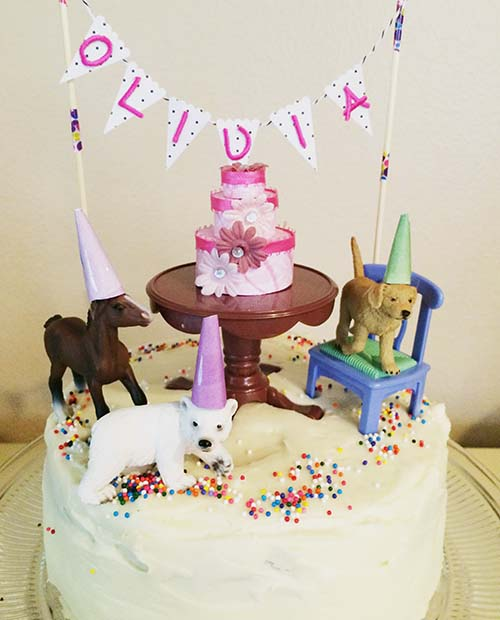 I Love To Decorate Birthday Cakes And In This Age Of Photo Sharing Im Constantly Inspired A Year Ago Saw Cake Decorated With Small