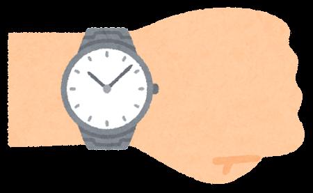 腕時計を付けた腕のイラスト(男性)