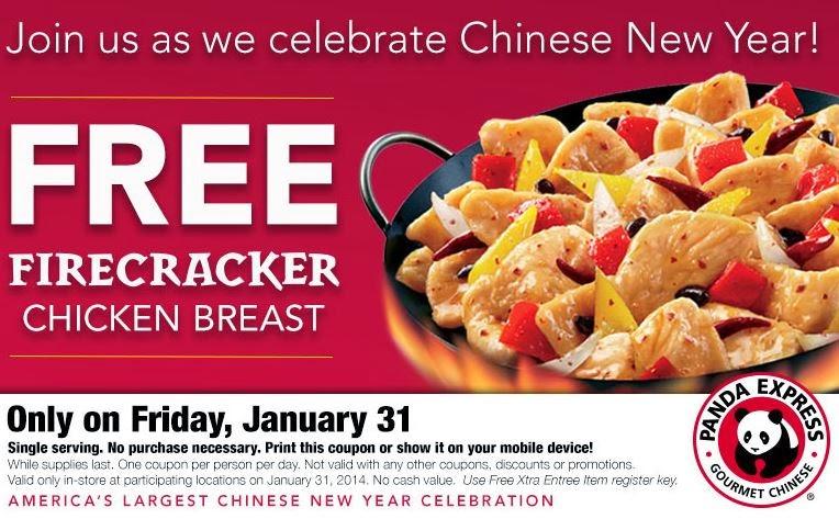 Panda Express Free Food Chinese New Year