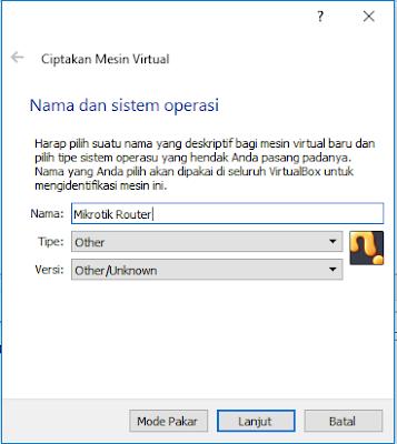 Membut VM Baru Di VirtualBox