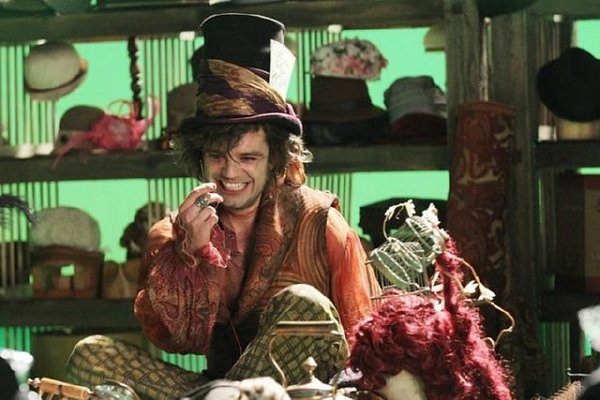 Once Upon a Time - Mad Hatter laughs as he is surrounded by hats
