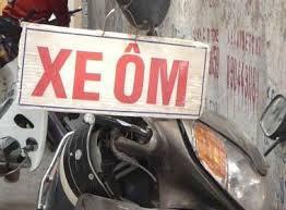 バイクタクシーの看板