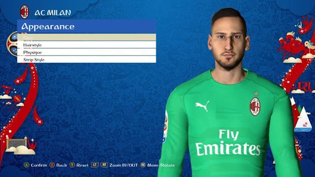 Gianluigi Donnarumma Face PES 2017