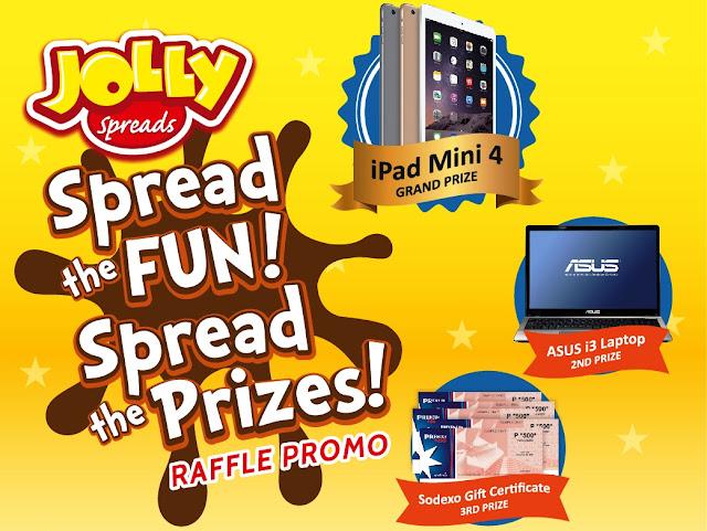 Jolly Spreads' Spread the fun, spread the prizes Raffle Promo