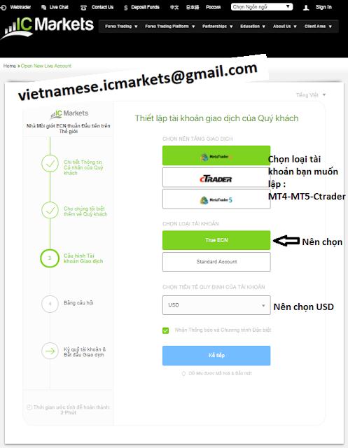 Hướng dẫn mở tài khoản sàn ICmarkets nhanh nhất