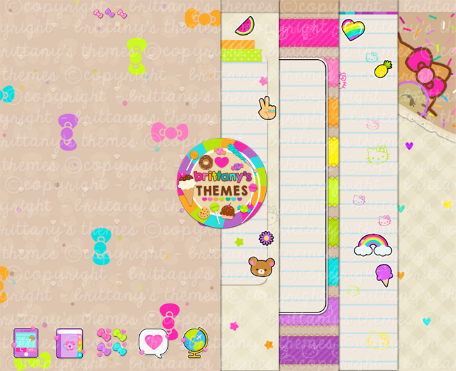 Brittanys Themes Peachy Go Launcher