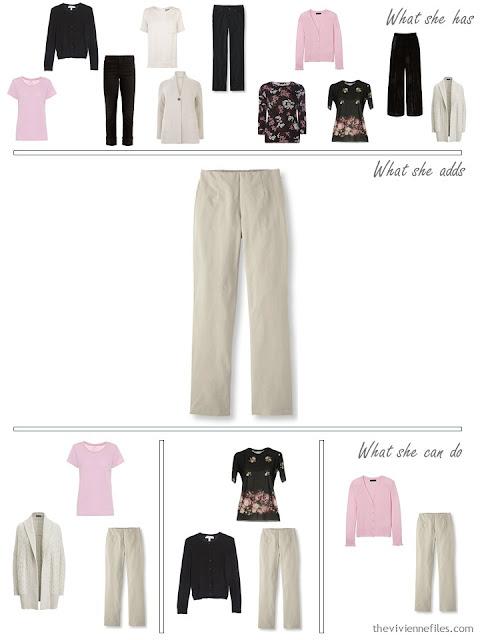 adding khaki pants to a 4 by 4 Wardrobe