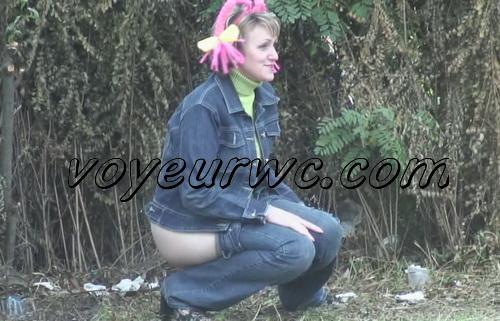 PissHunters 9332-9347 (Outdoor voyeur peeing. Voyeur public toilet spy cam)