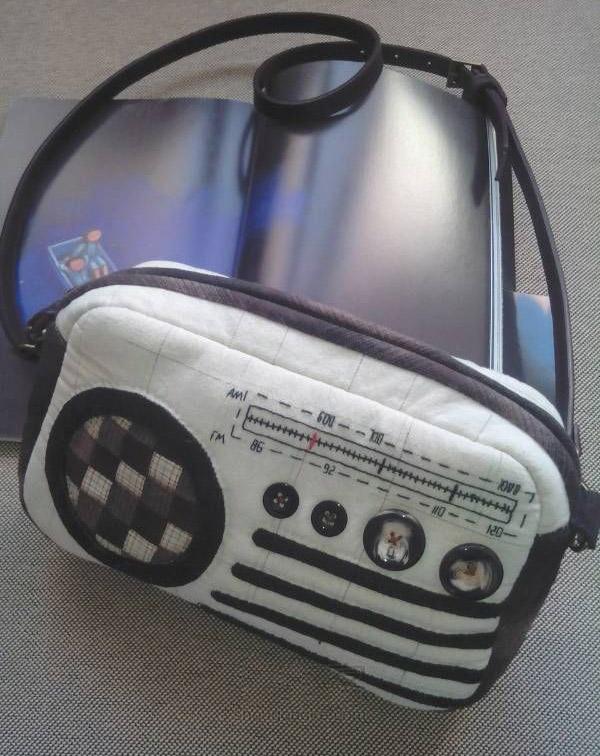 """Shoulder Bag """"Retro radio"""". Сумочка """"Ретро-радио"""""""
