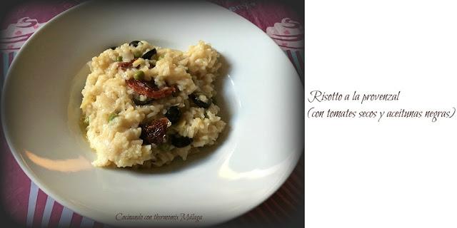 Risotto a la provenzal (con tomates secos y aceitunas negras)