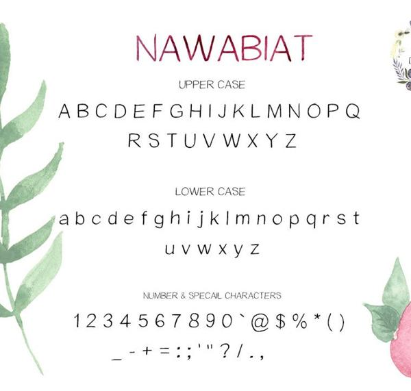 Download Font Terbaru 2018 - Nawabiat Handwriting Free Font