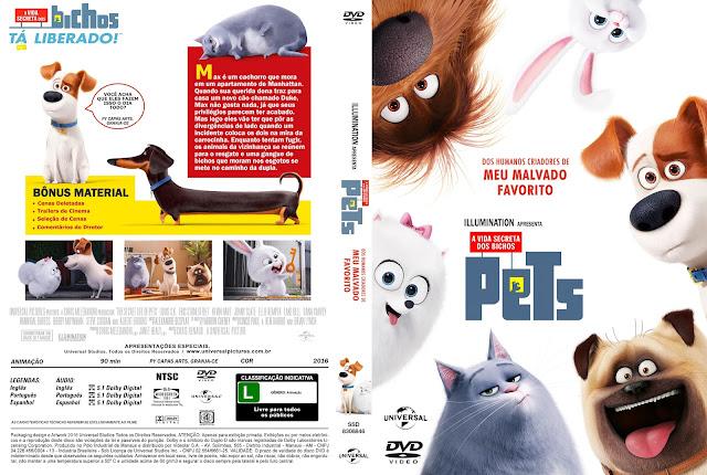 Capa DVD Pets A Vida Secreta Dos Bichos