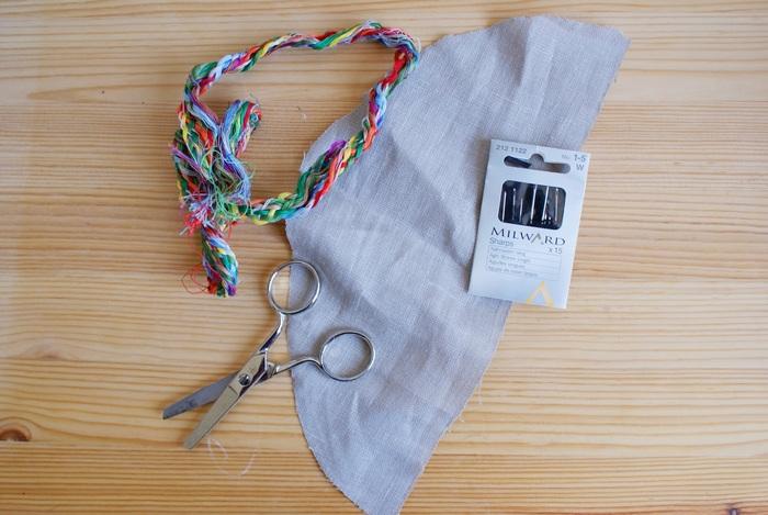 hand sew knot tutorial