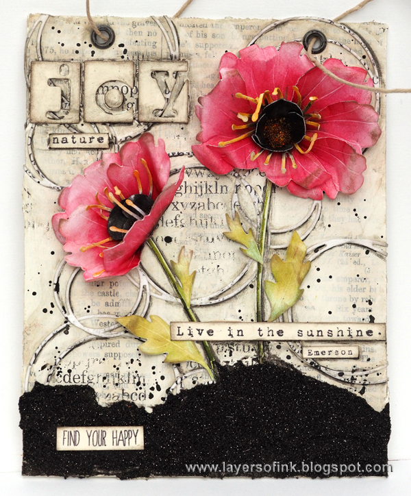 Layers of ink - Poppy Mixed Media tutorial by Anna-Karin