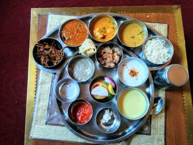 Rajasthani Thali at Jaipur, Rajasthan
