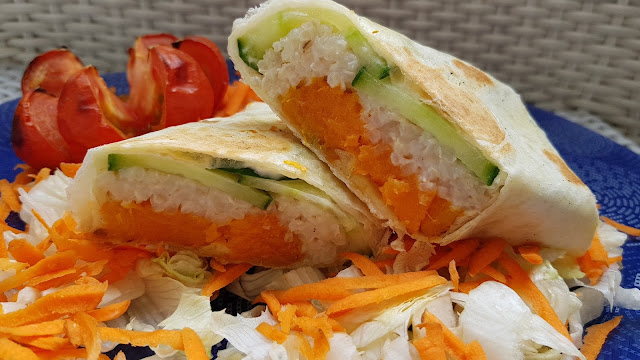 Wraps de batata y arroz integral