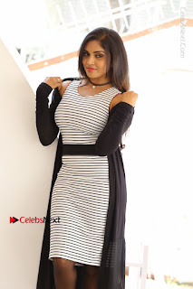 Telugu Actress Karunya Chowdary Stills in Black Dress at Soda Goli Soda Movie Opening  0260.JPG