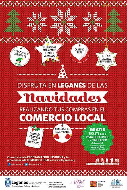 Programación de Navidad  2017 - 2018 en Leganés