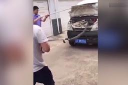 Mengerikan, Ada King Kobra Besar Menyelinap di Dalam Mobil