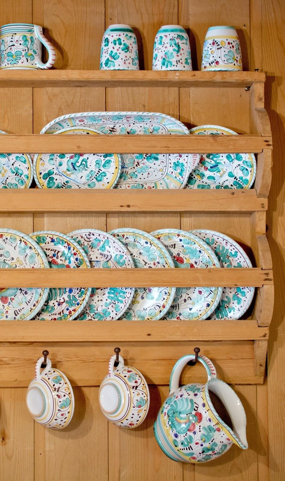 Dish shelf.