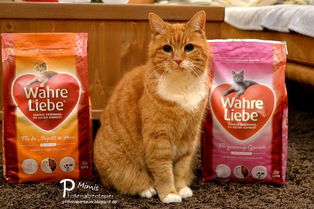 Katze Mimi testet das Katzenfutter Wahre Liebe von Mera