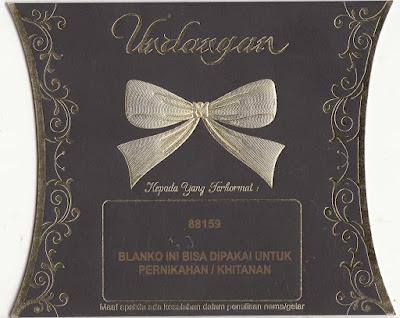 Undangan Pernikahan Murah Erba 88159
