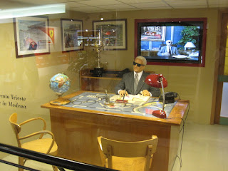 The Ferrari museum at Maranello has a reconstruction of Enzo's  office with a waxwork of 'il Commendatore' at his desk