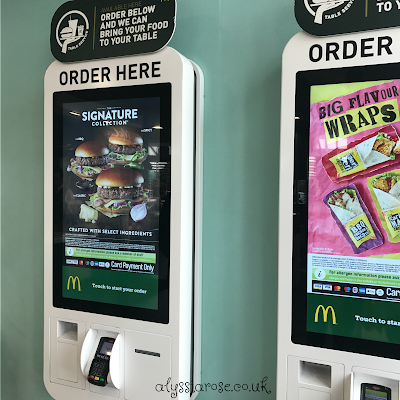 McDonalds new self serve kiosks
