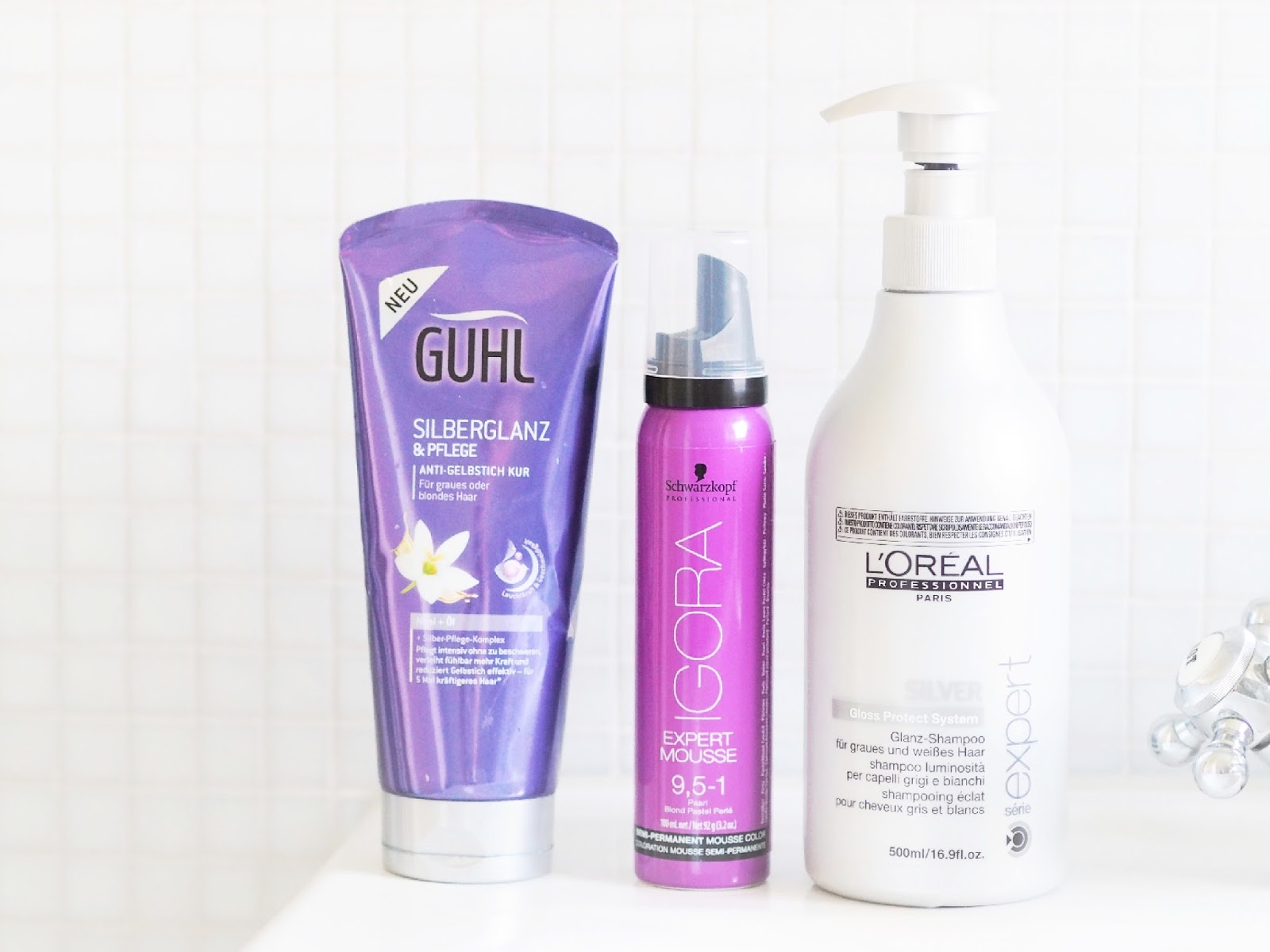 How to maintain Platinum/Silver hair, how to stop silver hair going yellow, platinum hair products, haircare