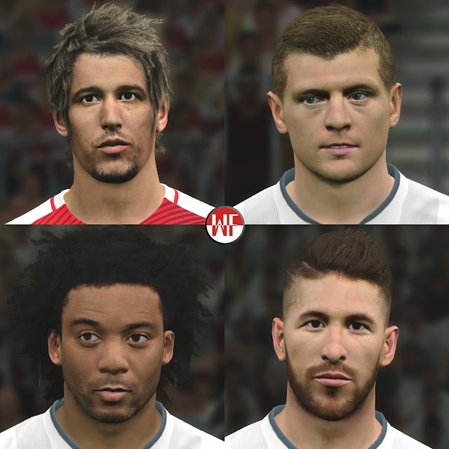 Download [PES 2016 & PES 2017] Real Madrid Facepack (5th Facepack) by WER