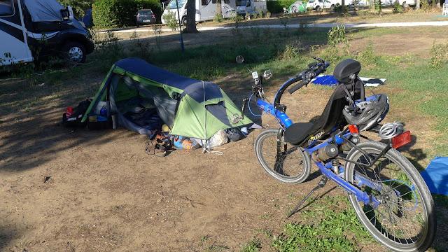 De Paris à la Rochelle en vélo couché, Ile de Ré, au camping