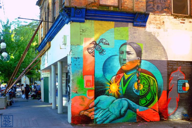 Le Chameau Bleu - Blog Voyage Canada Colombie Britannique -Street Art de GasTown de Vancouver