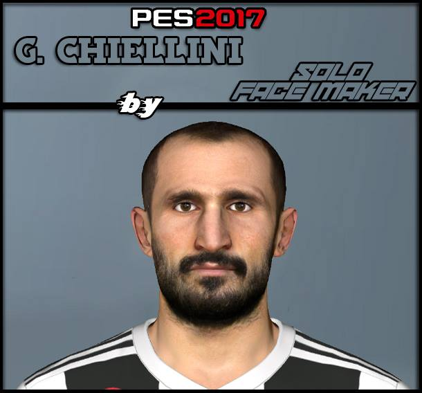 PES 2017 G. Chiellini face by Solo Gamer Face Maker & Pes Editor
