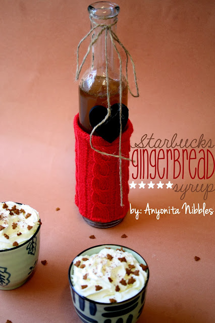 Starbucks Gingerbread Syrup Copycat Recipe by www.anyonita-nibbles.com