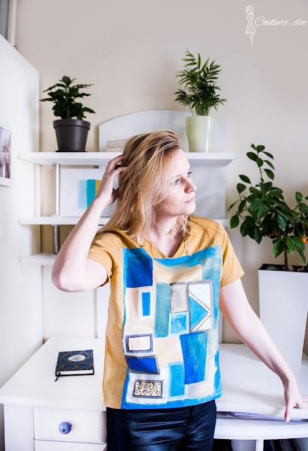 szycie, bluzka, odzież, malowanie,