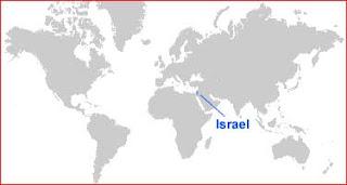Gambar Peta letak Israel