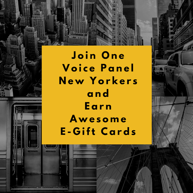 Join One Voice Panel New Yorkers and Earn Awesome E-Gift Cards  via  www.productreviewmom.com