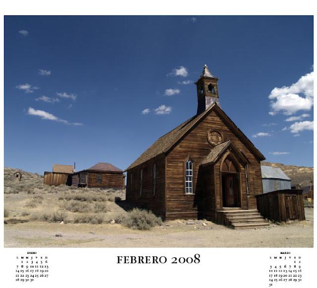 Iglesia de Bodie Ciudad Fantasma de California por El Guisante Verde Project