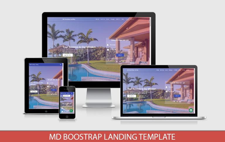 MD Boostrap Landing Template